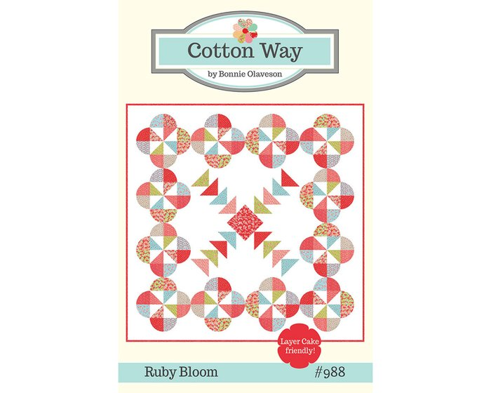 Patchwork-Anleitung RUBY BLOOM, Quilt