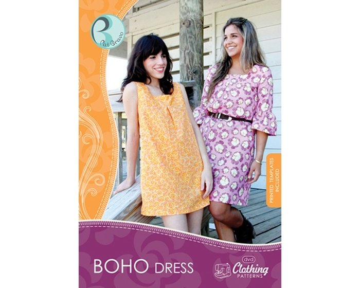 Pat Bravo - Clothing Patterns mit DVD Boho Dress, Tunika-Kleider-Schnitt, 2 Varianten
