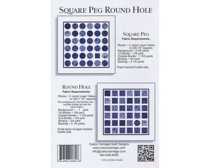 Patchwork-Anleitung SQUARE PEG ROUND HOLE, Quilt