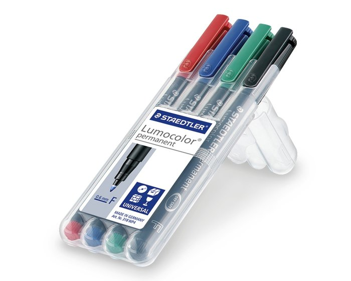4er-Set Folienstift permanent LUMOCOLOR SET, Staedtler