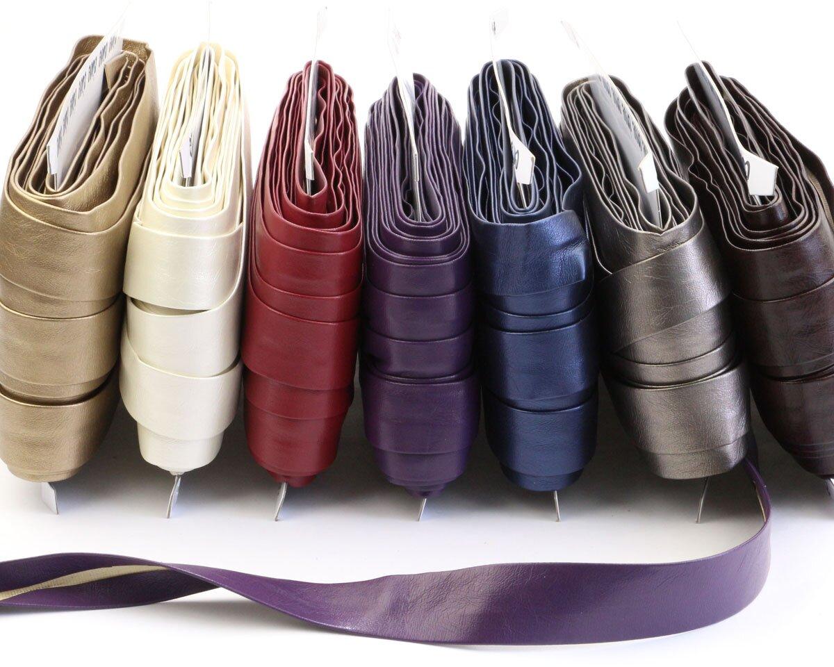 schr gband kunstleder 25 mm breit 10 farben. Black Bedroom Furniture Sets. Home Design Ideas