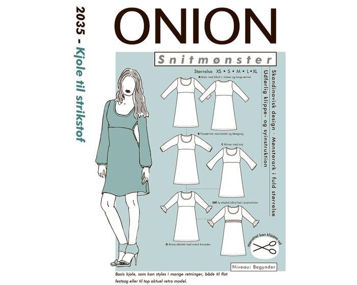 Empire-Kleid aus Strick, Schnittmuster ONION 2035