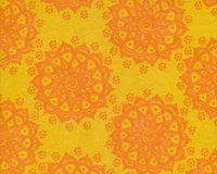Filzplatte DESIGN FELT FLORESCENCE, Ornamentblume, gelb-orange