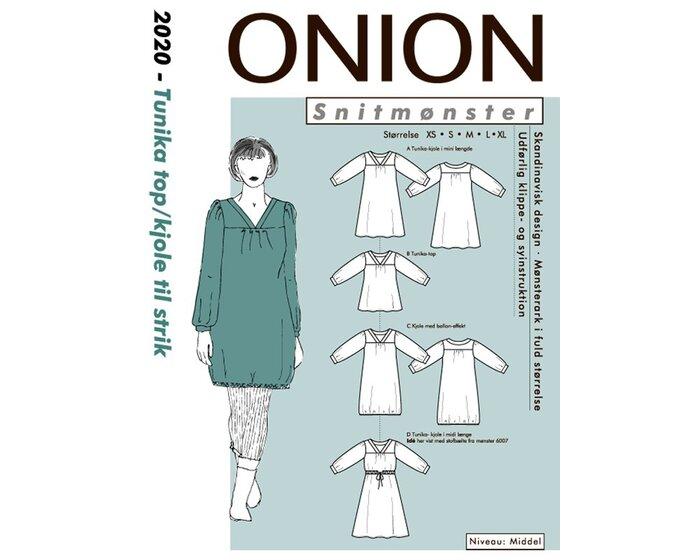Tunika oder Kleid mit V-Ausschnitt, Schnittmuster ONION 2020