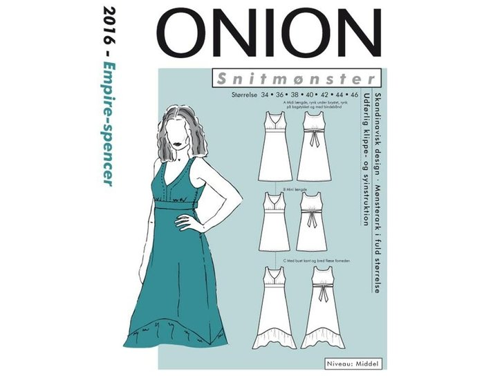 premium selection d8aff ccb94 Elegantes Empire-Kleid, Schnittmuster ONION 2016