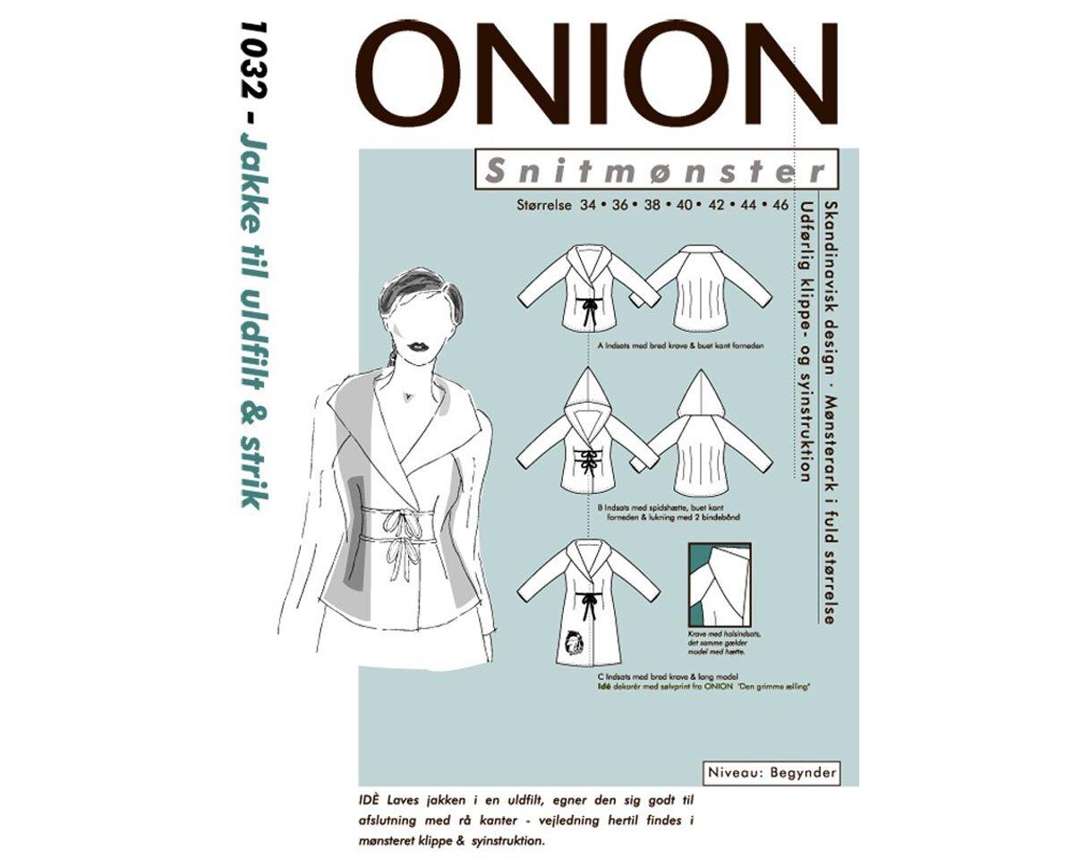 Jacke mit breitem Kragen oder Kapuze, Schnittmuster ONION 1032