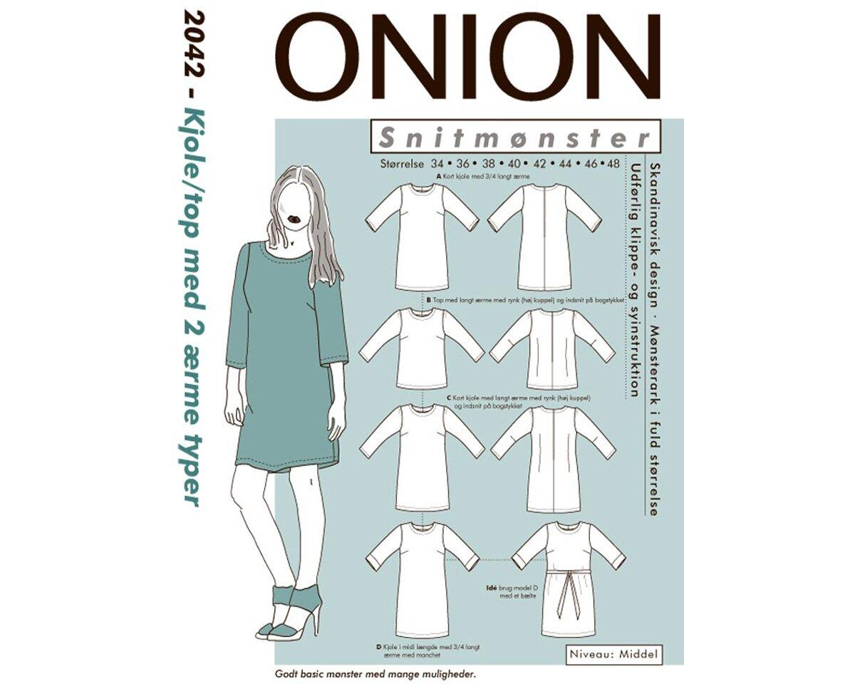 Einfaches, gerades Kleid, Tunika oder Top, Schnittmuster ONION 2042