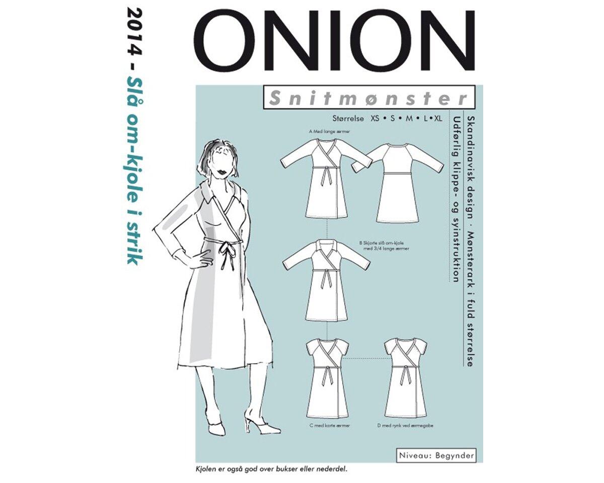 Wickelkleid aus Jersey, Schnittmuster ONION 2014