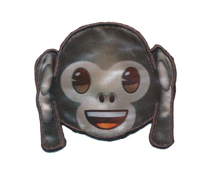 Applikation EMOJI KIKAZARU, Nichts-Böses-hören Affe, grau