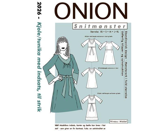 Tunika oder Kleid mit Einsätzen aus Strick, Schnittmuster ONION 2026