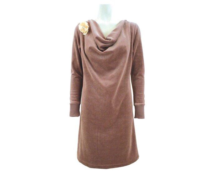 Kleid mit Wasserfall-Ausschnitt, Schnittmuster ONION 2034