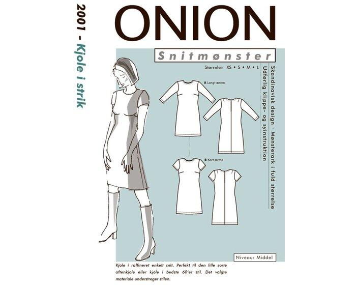 Kleid aus Strick im 60er Stil, Schnittmuster ONION 2001