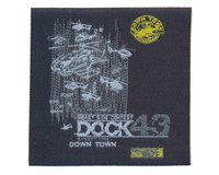 Applikation DOCK 43, Down Town Label, anthrazit