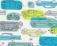 Patchworkstoff Organic Cotton GOTS, HAVANA, Retro-Autos,...
