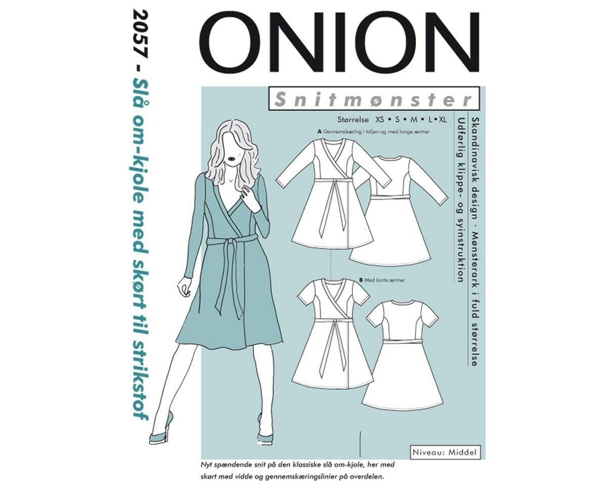 Wickelkleid mit Seiteneinsätzen, Schnittmuster ONION 2057