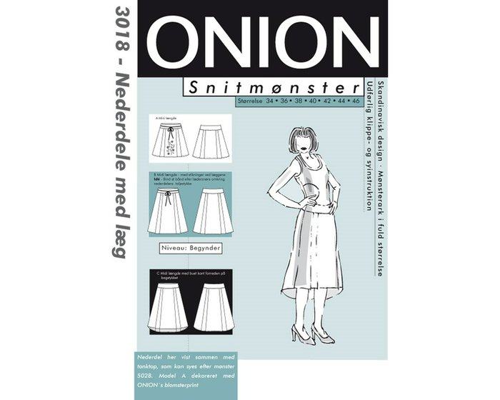 Rock in A-Linie, Schnittmuster ONION 3018