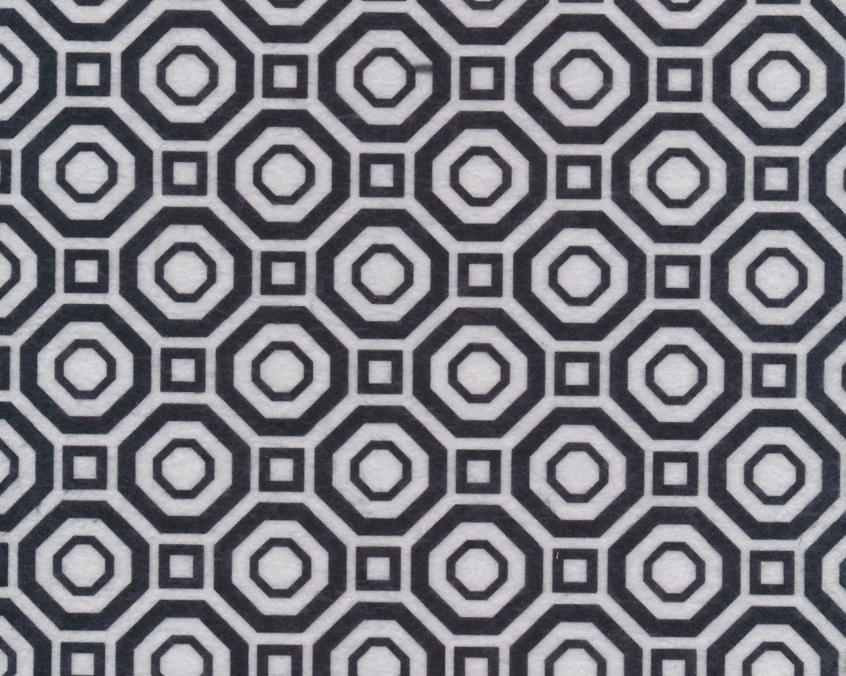 Filzplatte design felt mosaik fliesenmuster schwarz wei - Fliesenmuster schwarz weiay ...
