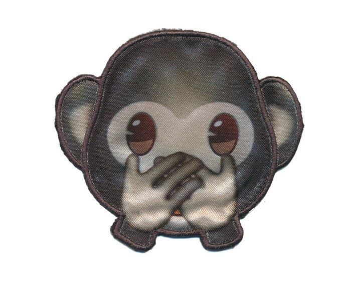 Applikation EMOJI IWAZARU, Nichts-Böses-sagen Affe, grau