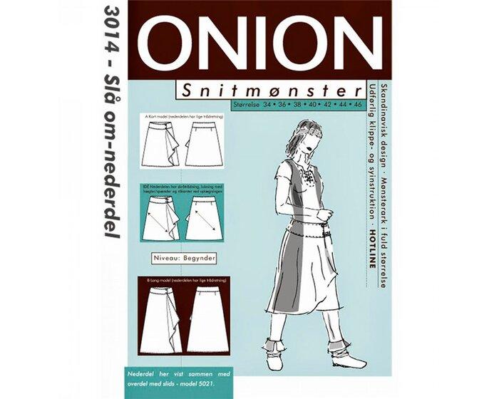Wickelrock mit Seiten-Volant, Schnittmuster ONION 3014