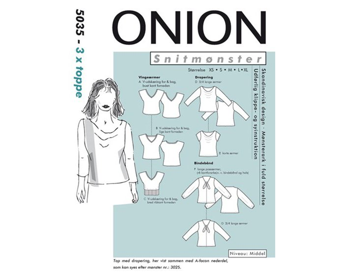 Shirts in verschiedenen Ausführungen, Schnittmuster ONION 5035