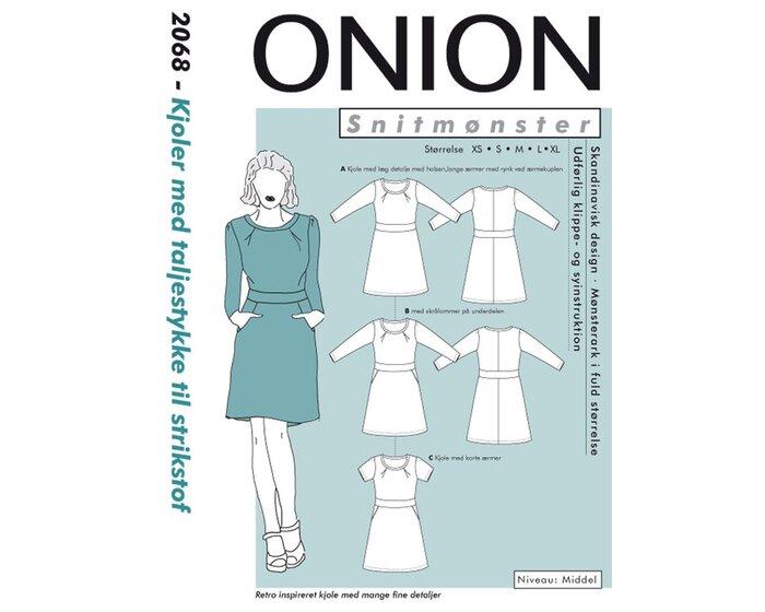 Kleid mit Taillenband, Schnittmuster ONION 2068