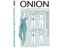 Jumpsuit in Wickeloptik, Schnittmuster ONION 6020