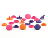 Set Druckknöpfe COLOR SNAPS, orange-pink-violett, Prym Love