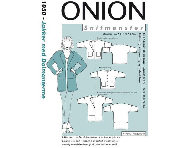 Jacke mit überschnittenen Raglanärmeln, Schnittmuster ONION 1050