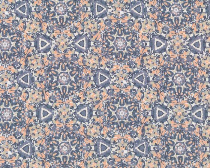 flie ender viskosestoff chennai kaleidoskop muster grau helles aprikot. Black Bedroom Furniture Sets. Home Design Ideas