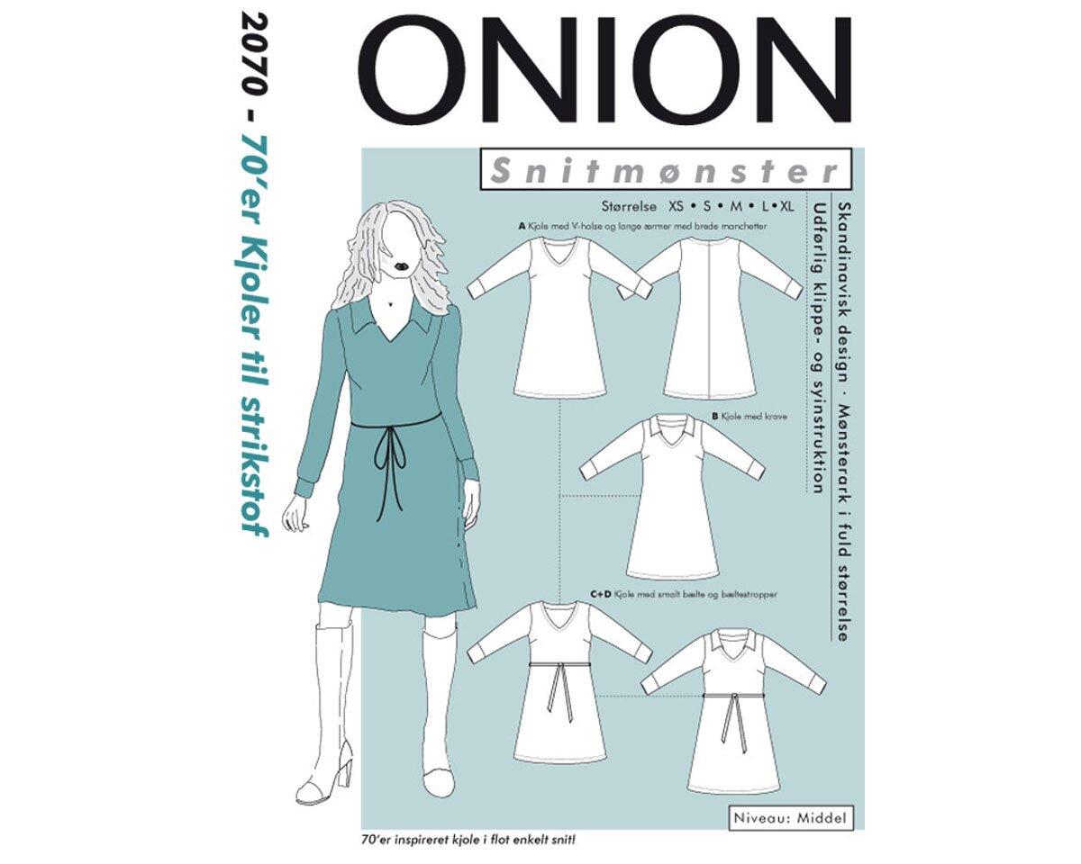 Legeres Kleid mit V-Ausschnitt, Schnittmuster ONION 2070