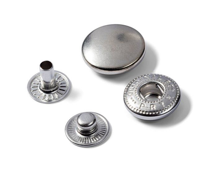 PRYM Metall Druckknöpfe zum Annähen 15mm silber