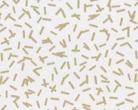 Patchworkstoff MODERN BACKGROUND LUSTER, Stäbchen, weiß-gold