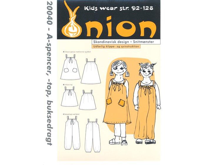 Hängerchen, Top und Overall, Schnittmuster ONION 20040