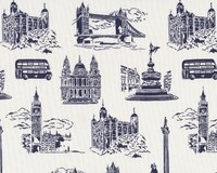 Patchworkstoff Dear Stella mit London-Motiven,...