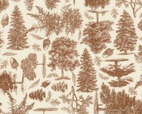 Patchworkstoff TRAIL MIX, Wald, braun