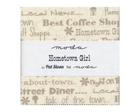 Precuts Charm Pack HOMETOWN GIRL, 12,5 x 12,5 cm, 42 Quadrate
