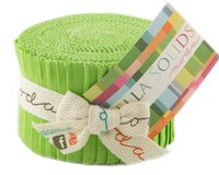 Precuts Junior Jelly Roll BELLA SOLIDS, 6 x 110 cm, 20 Streifen, hellgrün