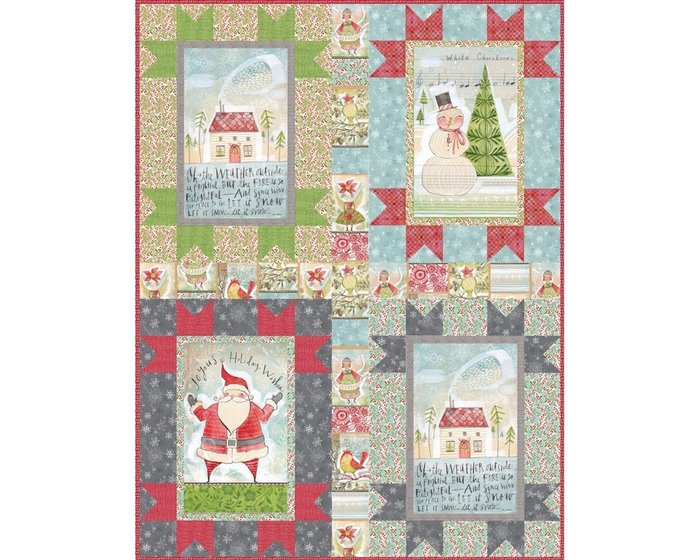 Patchworkstoff MERRY STITCHES, Mosaik-Karo, stumpfes rot