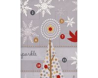 70-cm-Abschnitt Patchworkstoff HOLIDAY SPARKLE, Panel Adventskalender, grau