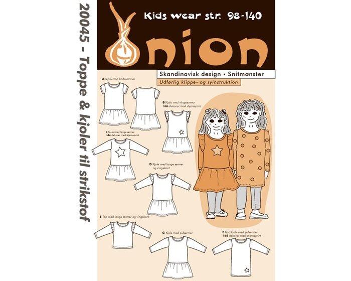 Shirt und Kleid mit tiefer Taille, Schnittmuster ONION 20045