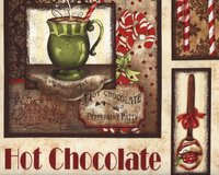 60-cm-Rapport Patchworkstoff HOT CHOCOLATE, winterliche...