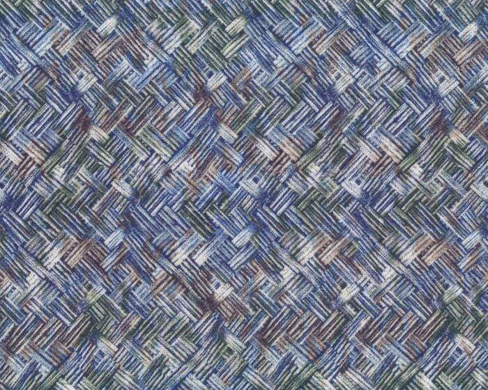 Viskose-Jersey AMANDA, Diagonal-Flechtmuster, jeansblau-moosgrün