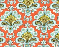 Patchworkstoff BELLE FRENCH WALLPAPER, ornamentale Paisley-Blüten,...