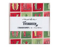 Precuts Charm Pack EVERGREEN, 12,5 x 12,5 cm, 42 Quadrate