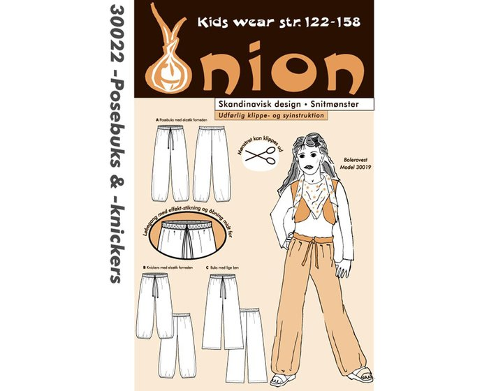 Harems-Hose, Schnittmuster ONION 30022
