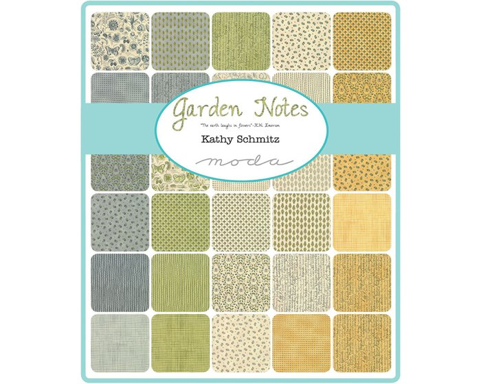 Patchworkstoff GARDEN NOTES, Zweiglein, hellbeige-anthrazit