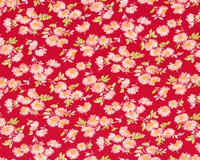 Patchworkstoff LITTLE RUBY, Margeriten, rot-lachsrosa