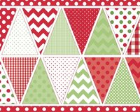 60-cm-Rapport Patchworkstoff HOLIDAY BANNERS, Wimpelkette, hellgrün