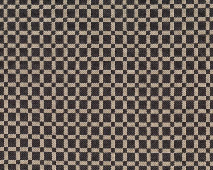 edler italienischer woll jacquard stoff prater quadrat muster dunkelbraun beige - Jacquard Muster