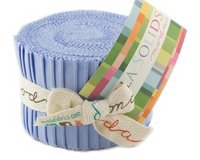 Precuts Junior Jelly Roll BELLA SOLIDS, 6 x 110 cm, 20 Streifen, helles...